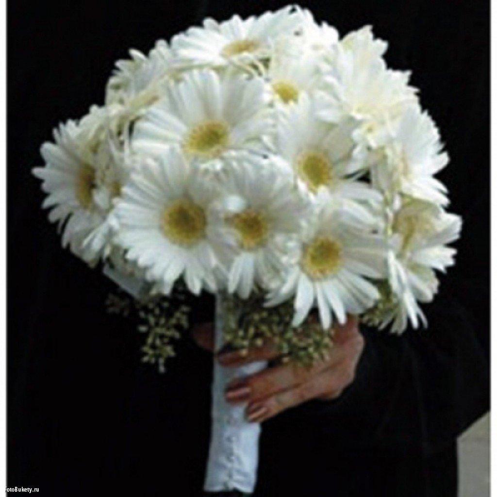 Букет №16 Невеста-5 (25 белых гермини)